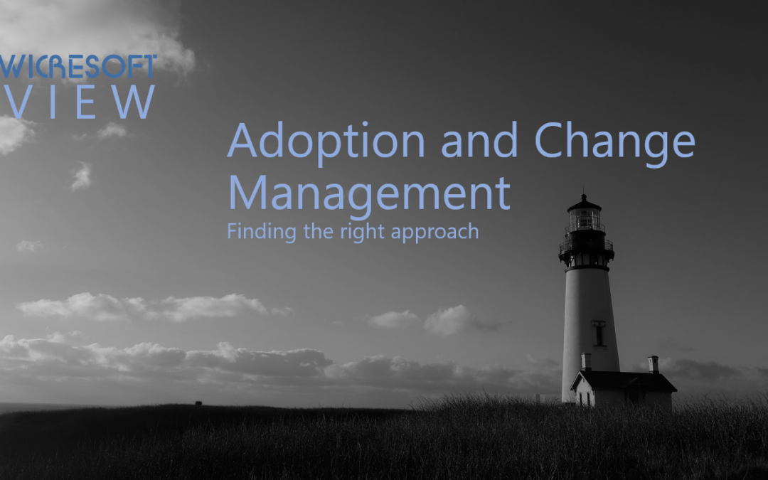 Adoption and change management – Finding the right approach