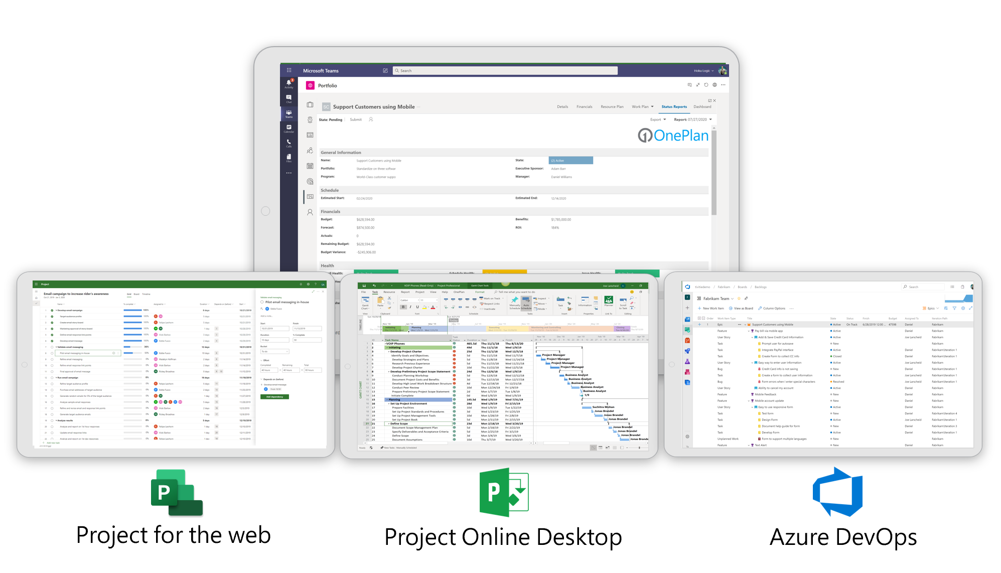 New Adaptive Microsoft PPM With Microsoft Project, Azure DevOps, and Jira Using OnePlan