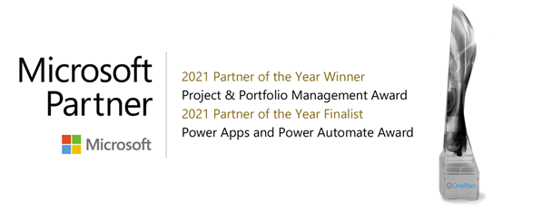OnePlan named Microsoft Global Partner of the Year in 2021