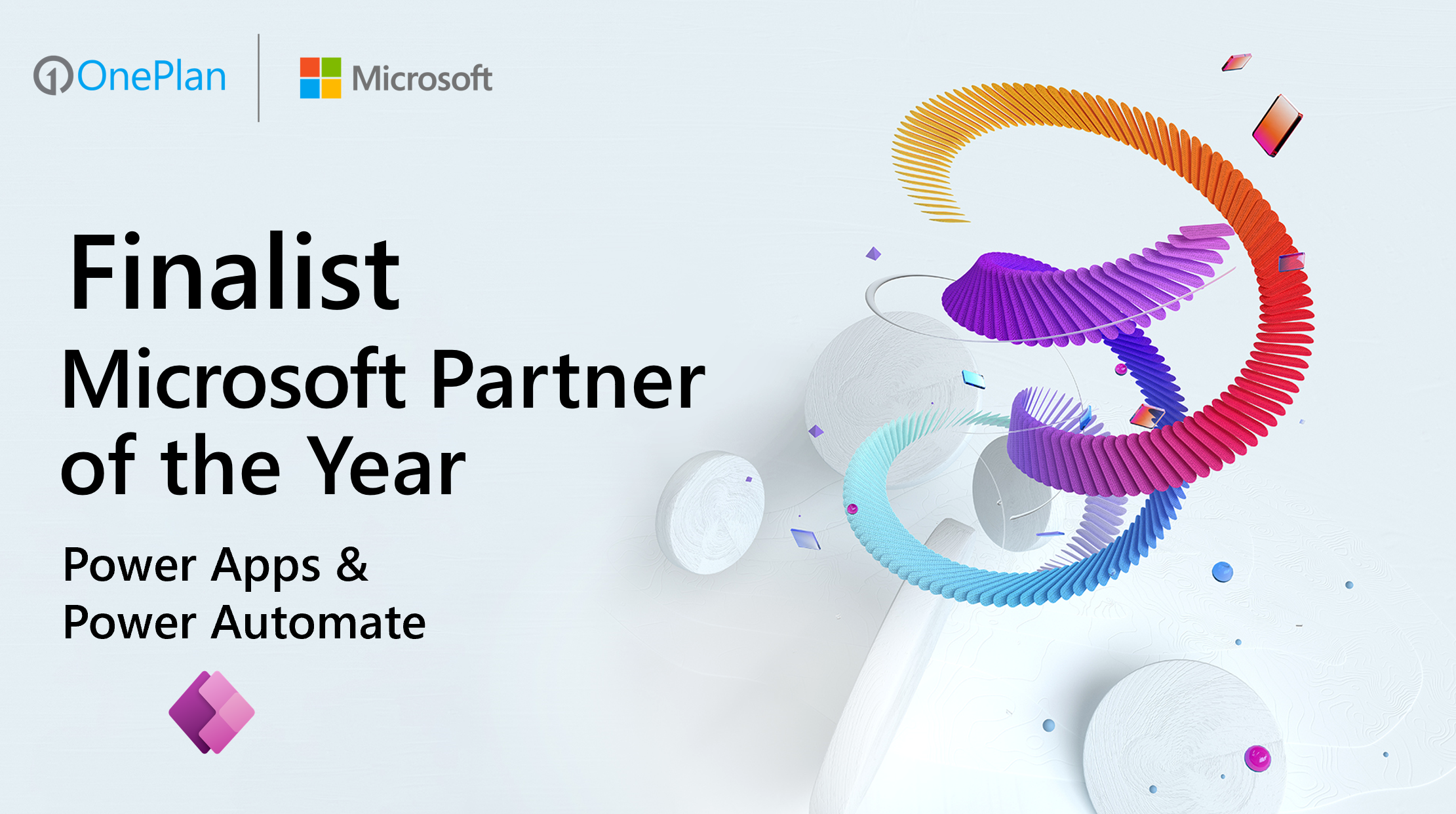 OnePlan Recognized as Finalist of 2021 Microsoft Partner of the Year for Power Apps and Power Automate